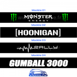 Bandeau Pare soleil Monster Hoonigan Rally Gumball 3000