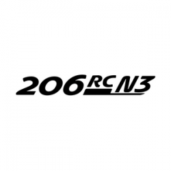 Stickers Peugeot 206 RC A7