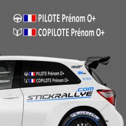 Kit Nom Pilote Copilote Type C