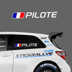 Kit Nom Pilote Copilote Type Circuit