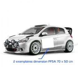 Fond numéro de course FFSA 72x52cm
